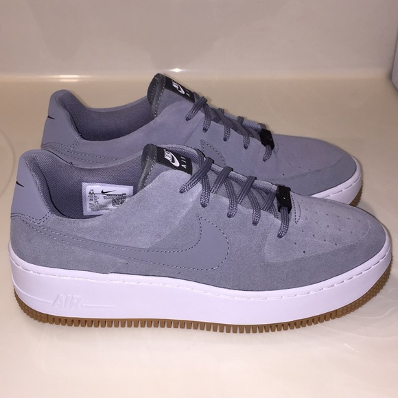 nike air force 1 sage low grey